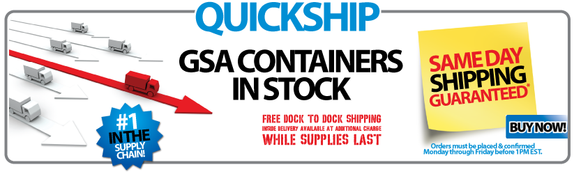 Free Shipping In Stock GSA Containers