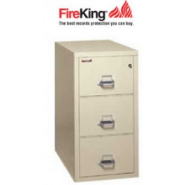 FireKing 3 1831 C, Three Drawer Letter Width Fireproof File Cabinet