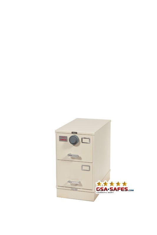 7110-01-614-5398 GSA Approved Class 6, 2 Drawer Filing Cabinet, Letter Size w/ S&G 2740B Lock