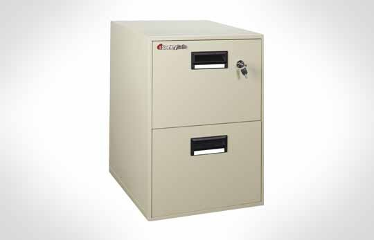 2B2100 Cost Saver! Fire File Cabinet, 2 Drawer Letter Width **Discontinued**