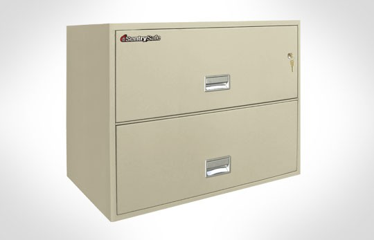"2L3600 SentrySafe Two Drawer Lateral Fireproof File, 36"" Wide"