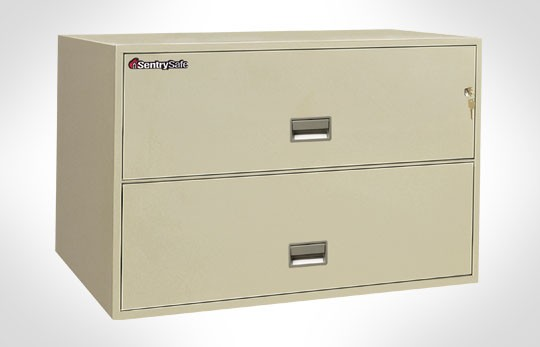 """2L4300 SentrySafe Two Drawer Lateral, 43"""" Wide, UL 350 1 Hour Rated"""