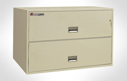 """2L4310 SentrySafe Two Drawer Lateral, 43"""" Wide – Fire and Impact Resistant"""