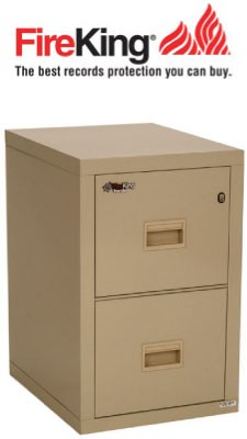 FireKing 2R1822-C, 2 Drawer Turtle File Cabinet, Great for Small Spaces