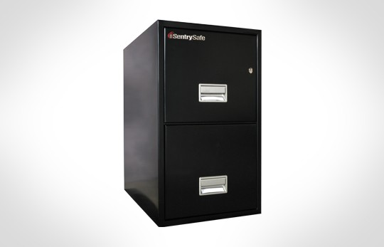 """2T2500 SentrySafe Two Drawer Letter, 25"""" Deep **Discontinued**"""