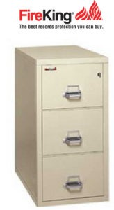 3 Drawer fire file with Medecco key lock