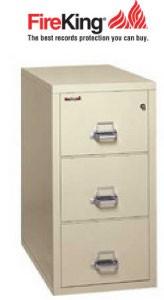 FireKing 3-2131-C, 3 Drawer Legal Width Fireproof File Cabinet