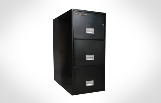 """3T3110 SentrySafe Three Drawer Letter, 31"""" Deep **Discontinued**"""