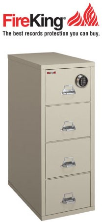 FireKing 4-2131-C SF Safe in a File Cabinet