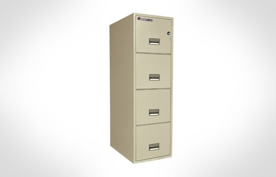 "4T2531 SentrySafe Four Drawer Letter, 25"" Deep **Discontinued**"