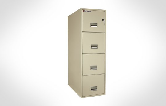 """4T3131 SentrySafe Four Drawer Letter, 31"""" Deep **Discontinued**"""