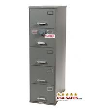 Five Drawer GSA Approved Class 6 filing cabinet, Size V