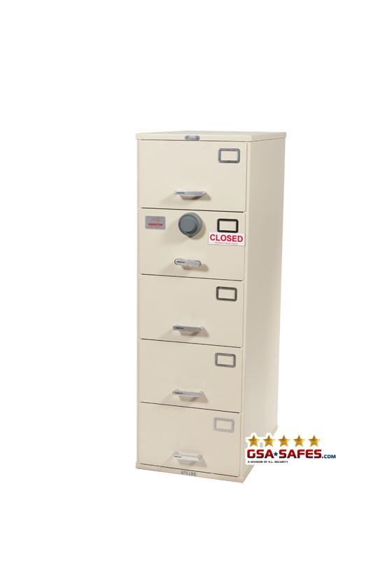 7110-01-614-5400 GSA Approved Class 6, 5 Drawer Filing Cabinet, Legal Size w/ S&G 2740B Lock