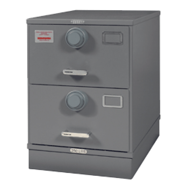 7110-01-614-5427   Class 5, Two Drawer Multi Lock File Cabinet, Gray