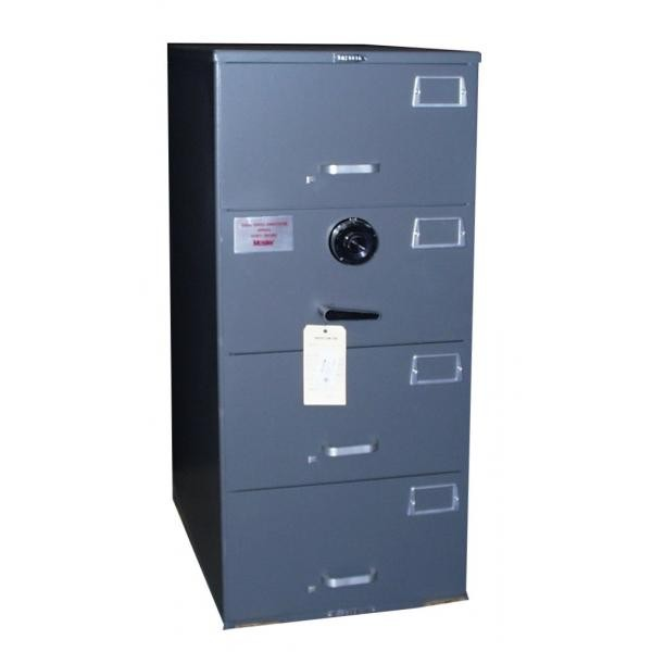 7110-01-614-5430 | Hamilton Products Group Class 5, 4 Drawer SIngle Lock File Cabinet, Gray
