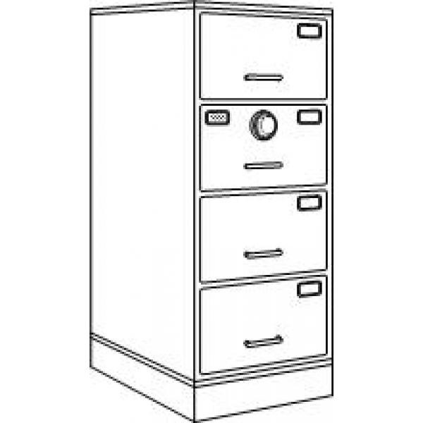 7110-01-050-6060 | Class 6, 4 Drawer Filing Cabinet, Parchment