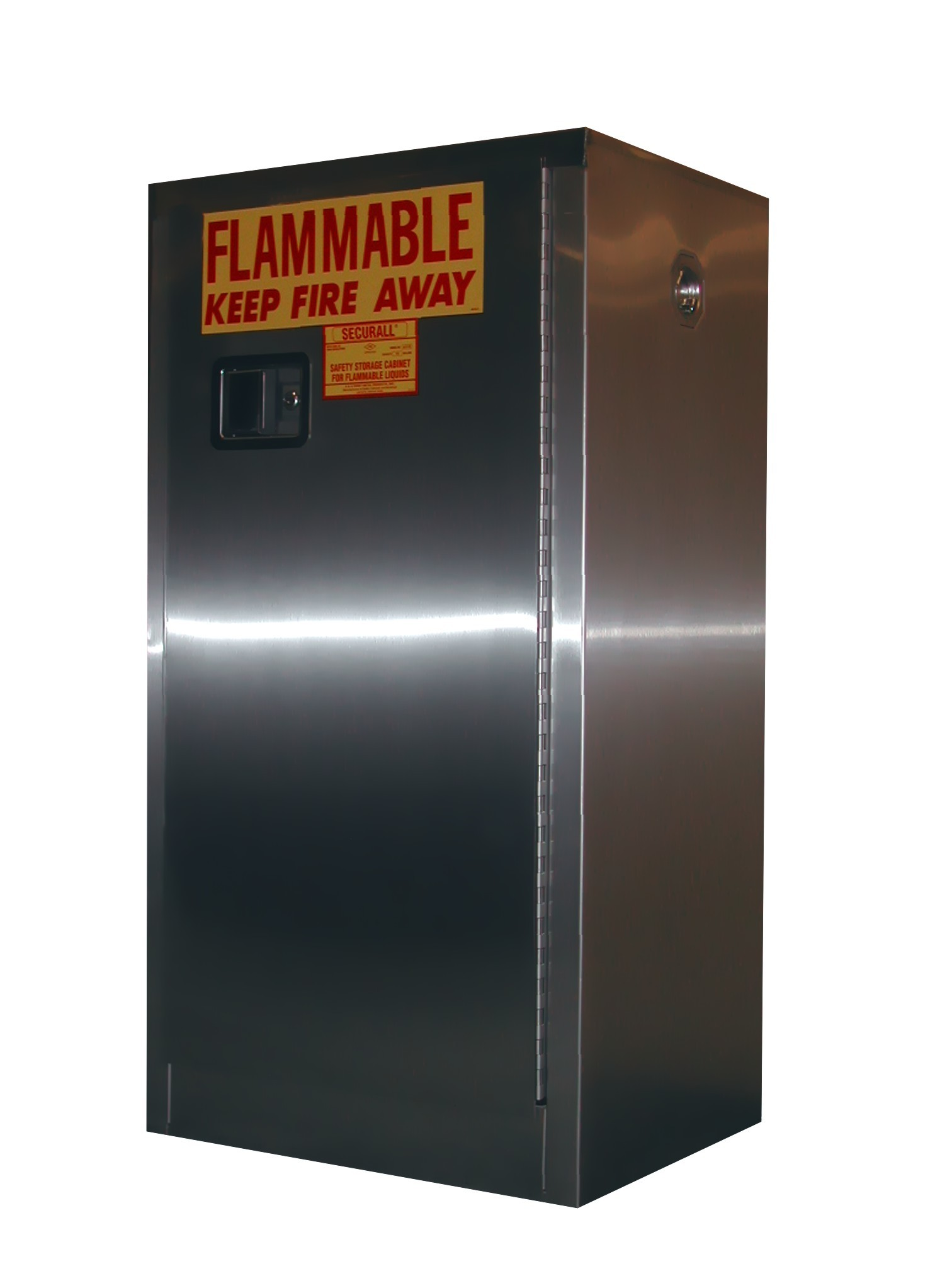 A110-SS - Stainless Steel Flammable Storage Cabinet - 16 Gal. Storage Capacity