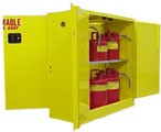 4DA130 - Flammable (Dual Access) Storage Cabinets - 30 Gal. Storage Capacity