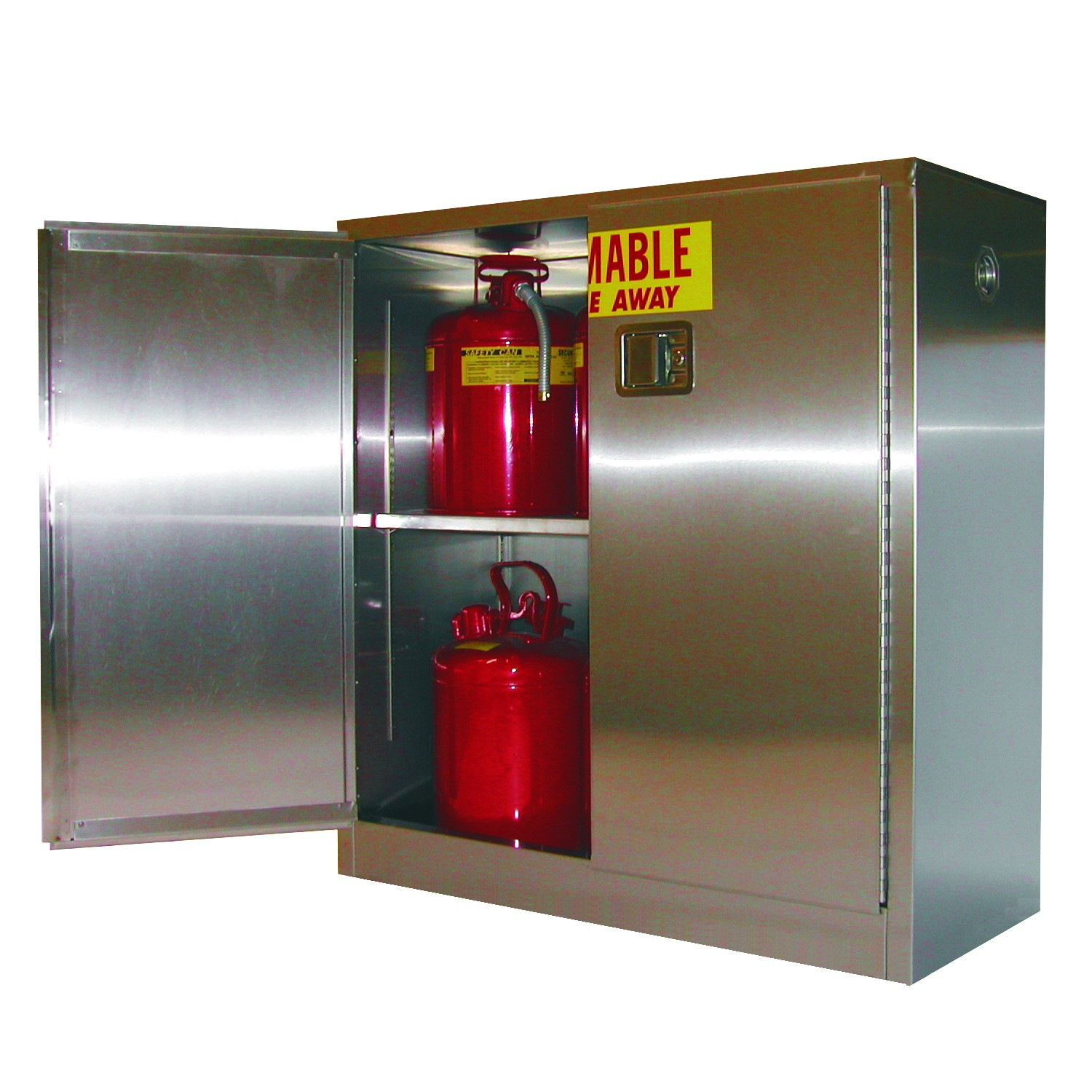 A130-SS - Stainless Steel Flammable Storage Cabinet - 30 Gal. Storage Capacity