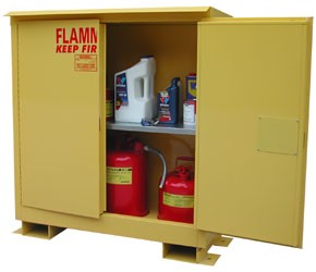 A130WP1 - Weatherproof Flammable Storage Cabinet - 30 Gal. Self-Latch Standard 2-Door