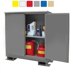 A145WP1 - Weatherproof Flammable Storage Cabinet - 45 Gal. Self-Latch Standard 2-Door