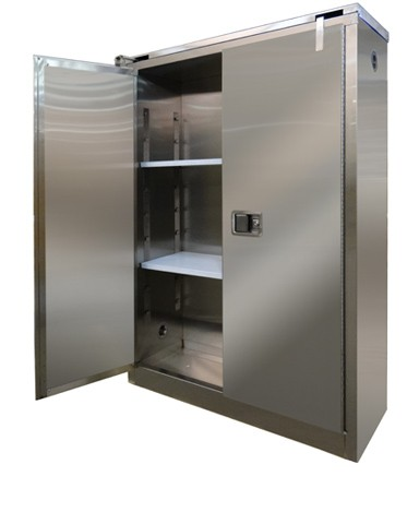 A345-SS - Stainless Steel Flammable Storage Cabinet - 45 Gal. Storage Capacity