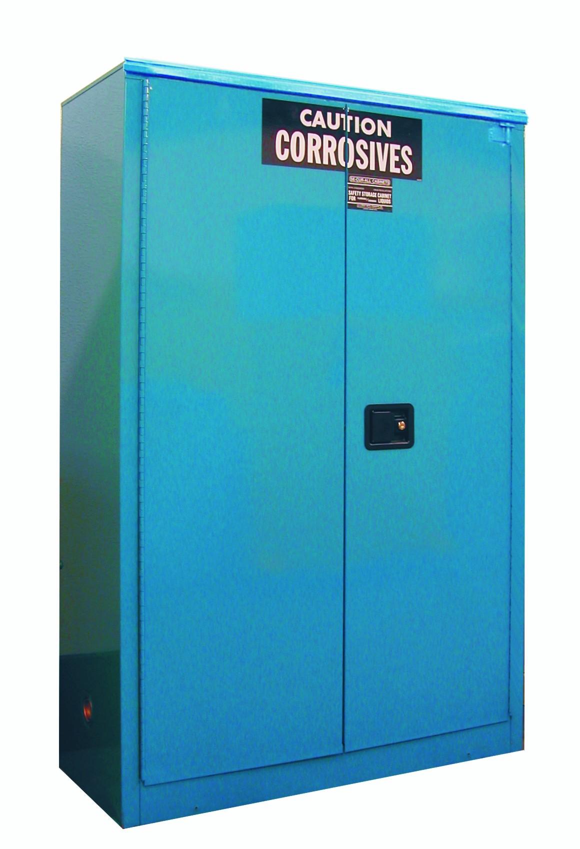 C245 - Acid/Corrosive Storage Cabinet - 45 Gal. Self-Close, Self-Latch Sliding Door