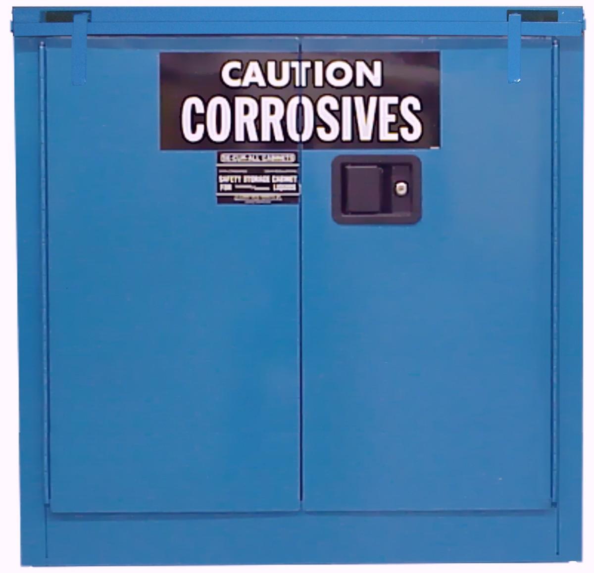 C330 - Acid/Corrosive Storage Cabinet - 30 Gal. Self-Close, Self-Latch Safe-T-Door