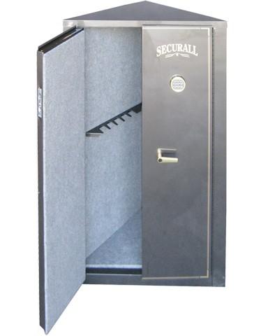 Corner 11 Gun - 11 Gun Cabinet w/ Digital Lock. Carpet-lined