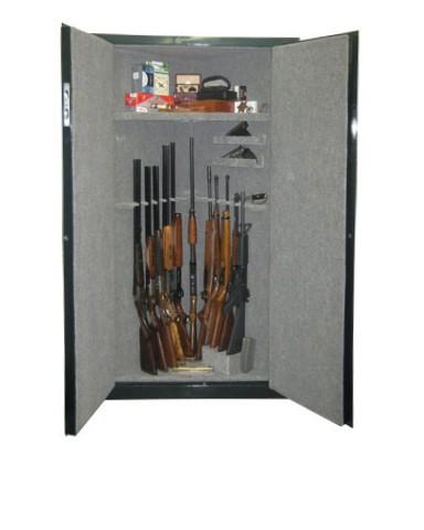 Corner 11 Gun 1 Shelf - 11 Gun Cabinet w/ Digital Lock. Carpet-lined