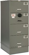 7110-01-614-5387 GSA Approved Class 6, 4 Drawer Filing Cabinet, Legal Size w/ S&G 2740 Lock
