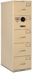 7110-01-614-5402 GSA Approved Class 6, 5 Drawer Filing Cabinet, Letter Size w/ S&G 2740B Lock