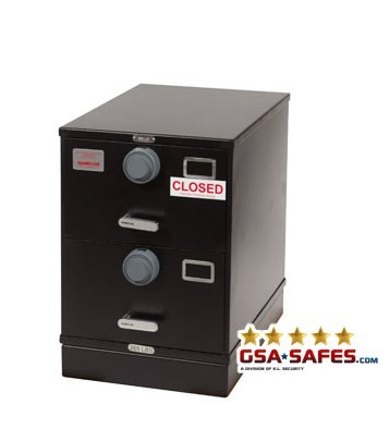 7110-01-614-5437 Multi Lock GSA Approved Class 6, 2 Drawer Filing Cabinet, Legal Size w/ S&G 2740B Locks