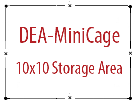 DEA MiniCage Storage Area, Turnkey 10x10 feet size