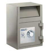 "SS70, Stainless  Safe Deposit Boxes w/ (2) - 5"" x 10 3/8"" & (2) 15"" x 10 3/8"""