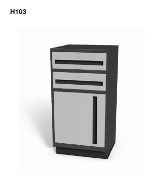 "H103 - Stand-up 38"" High Undercounter Cabinets"