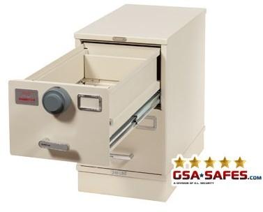 7110-01-030-9009   Multi-Lock Class 6, 2 Drawer File Cabinet, Parchment
