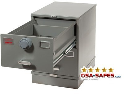 7110-01-614-5404 GSA Approved Class 6, 2 Drawer Multi-Lock Filing Cabinet, Letter Size w/ S&G 2740B Lock