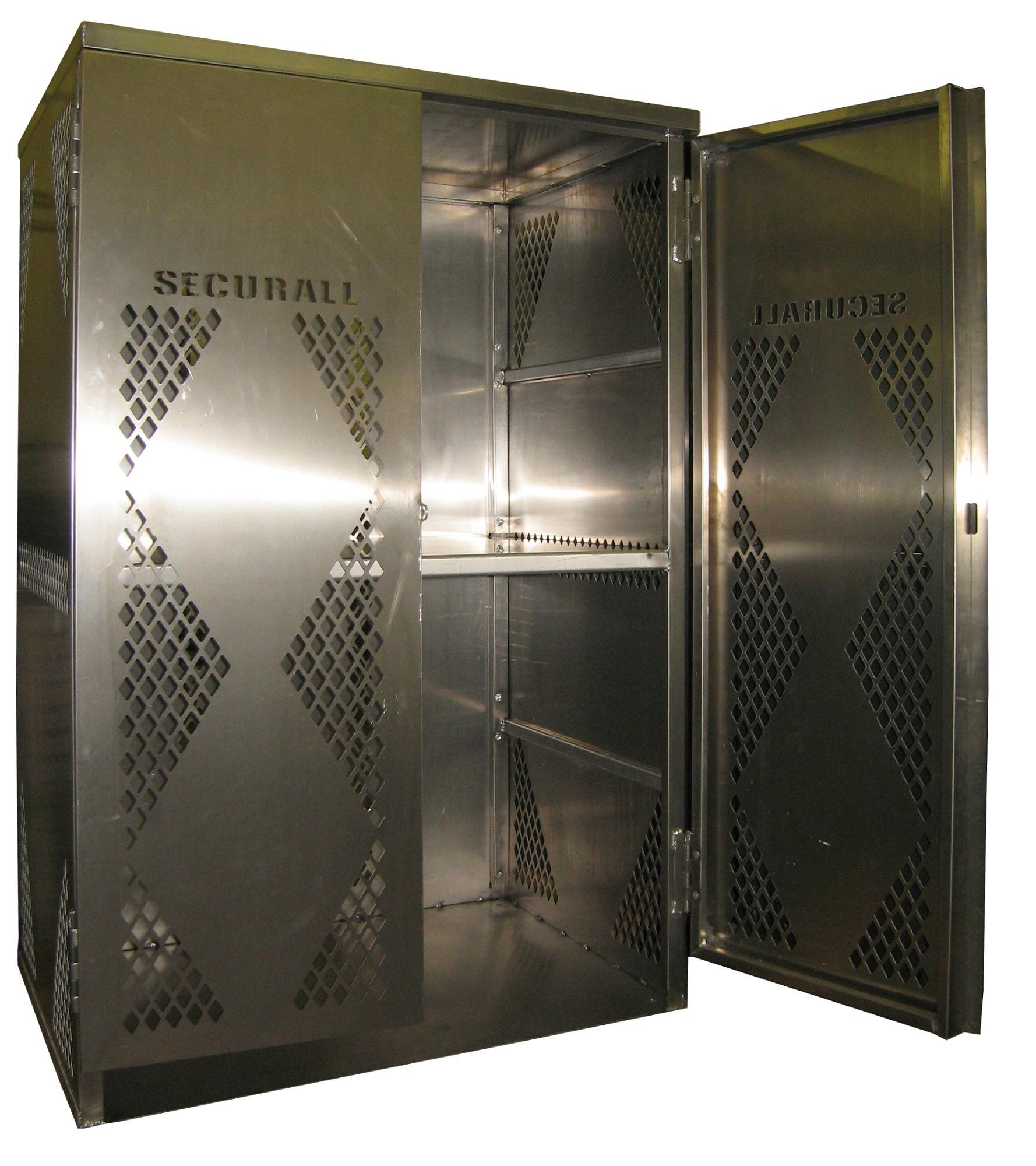 LP12 - Vertical - LP/Oxygen Storage Cabinet - 12 Cyl. Vertical Standard 2-Door