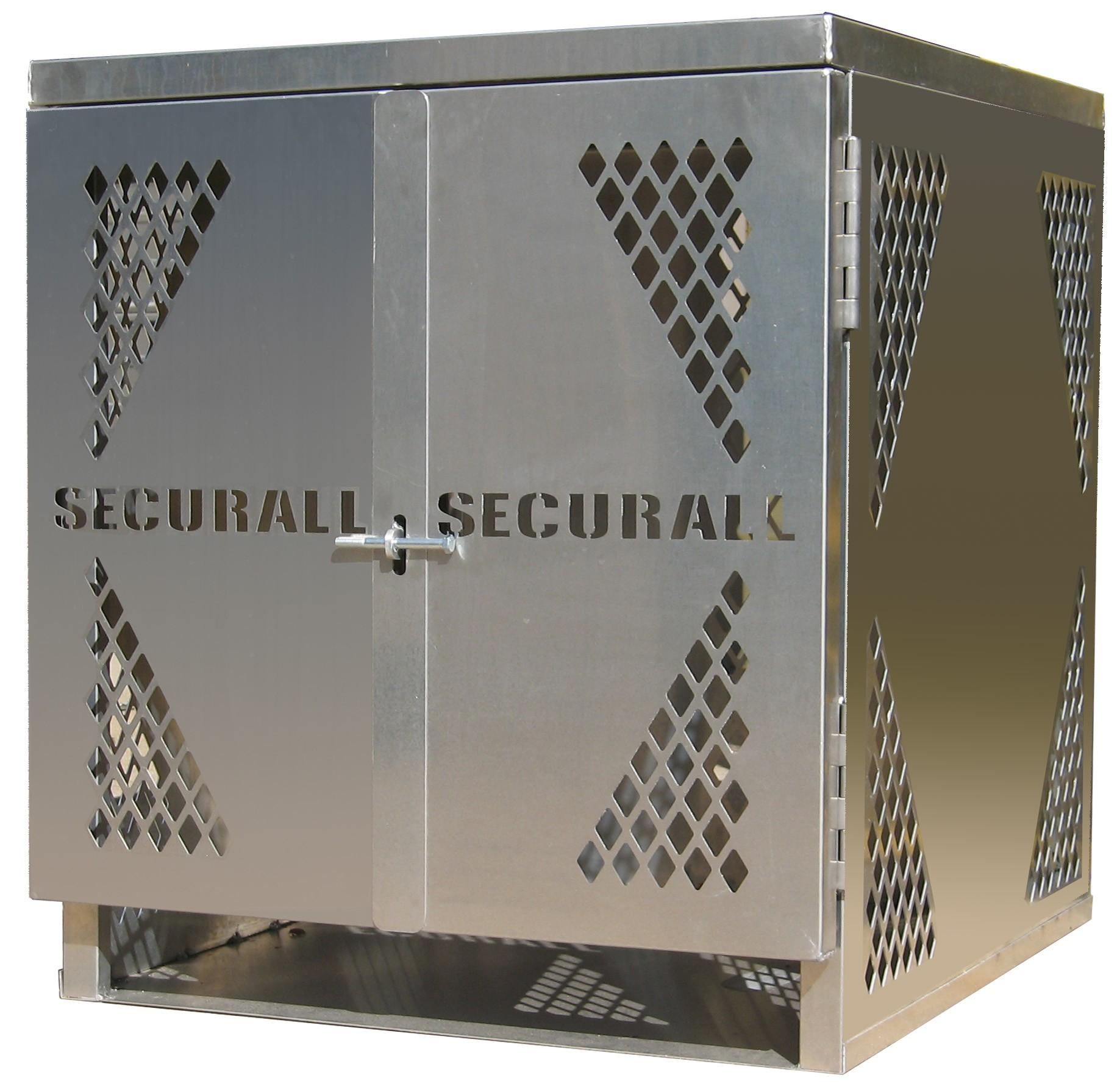 LP4 - LP/Oxygen Storage Cabinet - 4 Cylinder Storage Capacity