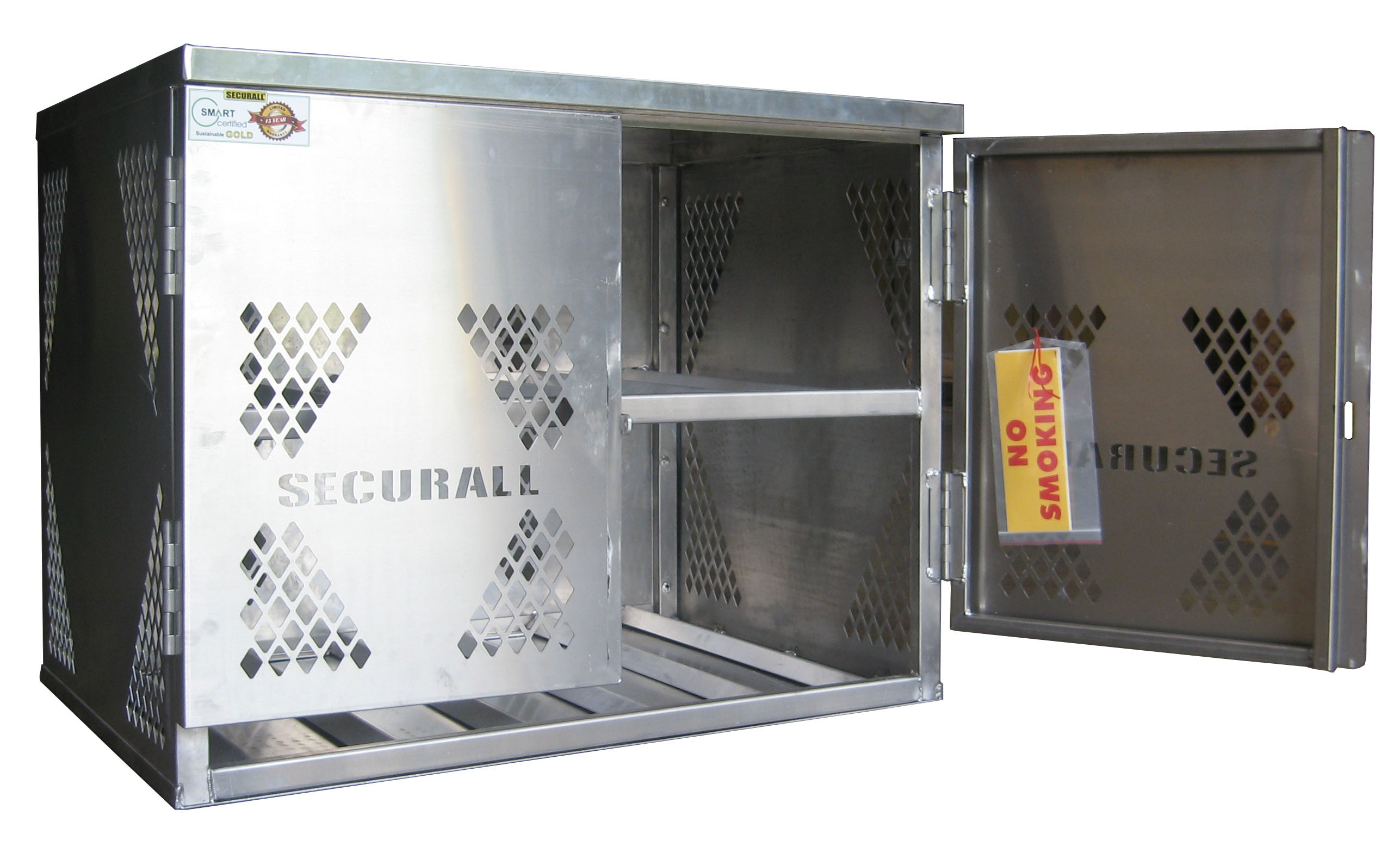 LP6 - LP/Oxygen Storage Cabinet - 6 Cyl. Horizontal Standard Door