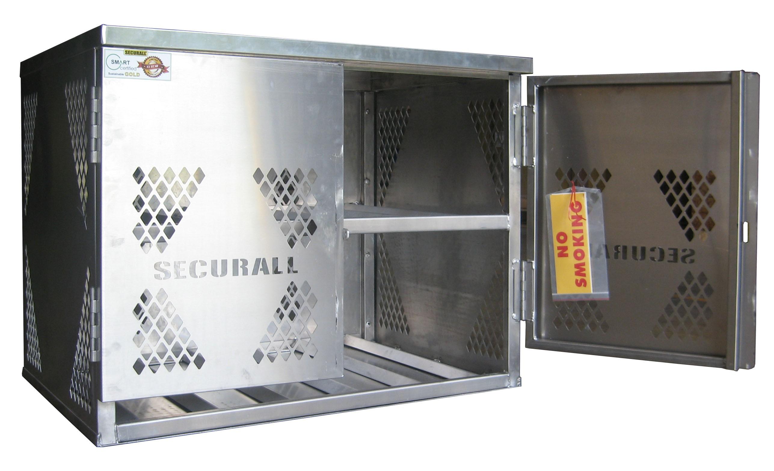 LP6-Steel - LP/Oxygen Storage Cabinet - 6 Cyl. Horizontal Standard Door