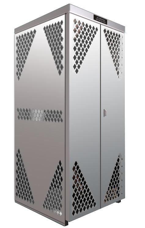 LP8-Steel - LP/Oxygen Storage Cabinet - 8 Cyl. Horizontal Standard Door