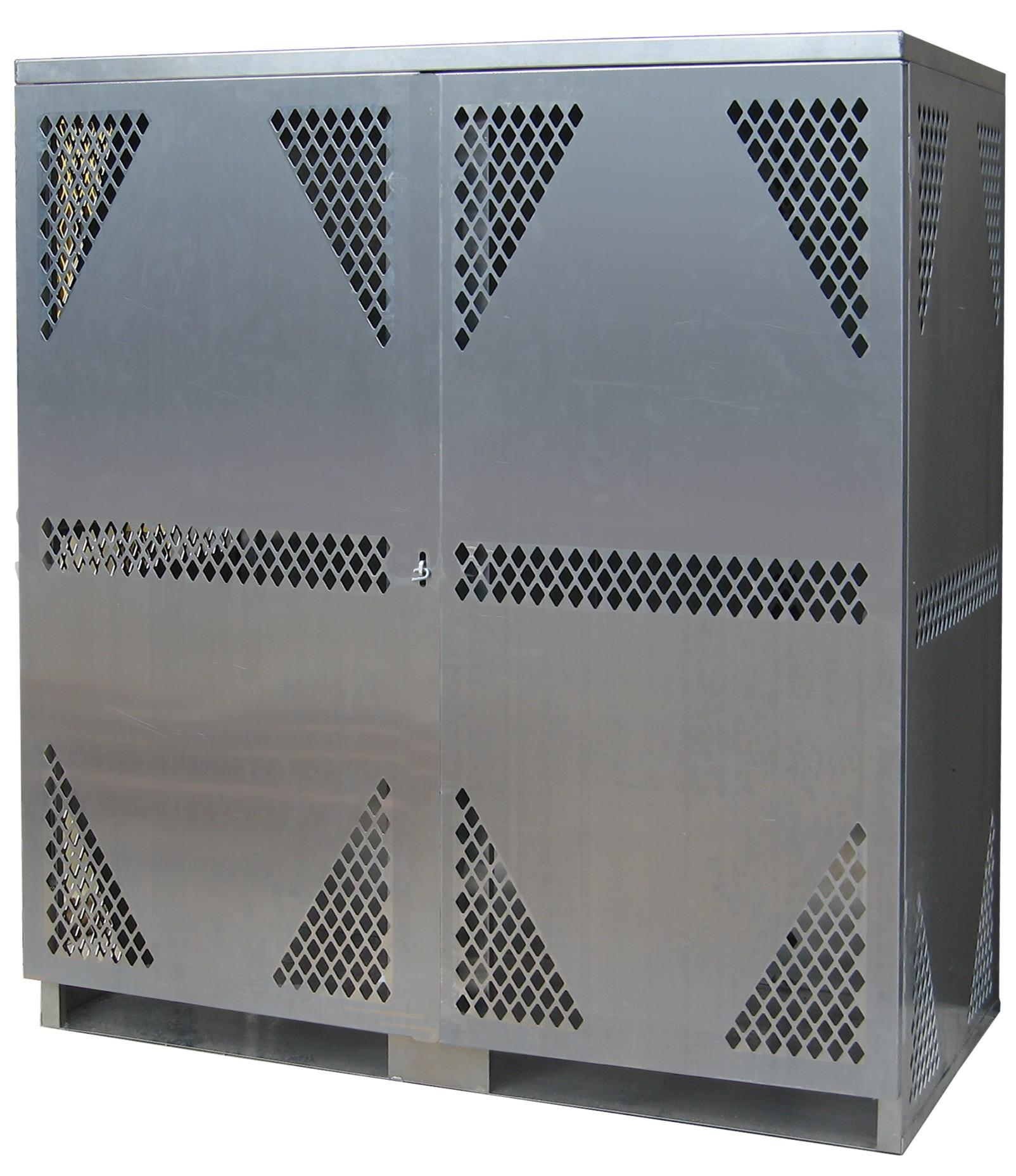 OG20 - LP/Oxygen Storage Cabinet - 10-20 Cyl. Vertical Standard 2-Door