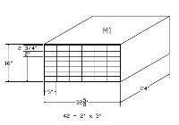 """M1, Modular Safe Deposit Boxes w/ (42) - 2"""" x 5"""" Openings"""