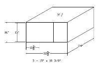 """M7, Modular Safe Deposit Boxes w /(3) - 15"""" x 10 3/8"""" Openings"""