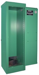 MG104FL - MedGas Oxygen Gas Cylinder Full Fire Lined Storage Cabinet - Stores 2-4 D, E Cylinders