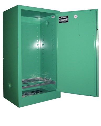 MG109FL - MedGas Full Fire Lined Oxygen Gas Cylinder Storage Cabinet - Stores 9-12 D, E Cylinders