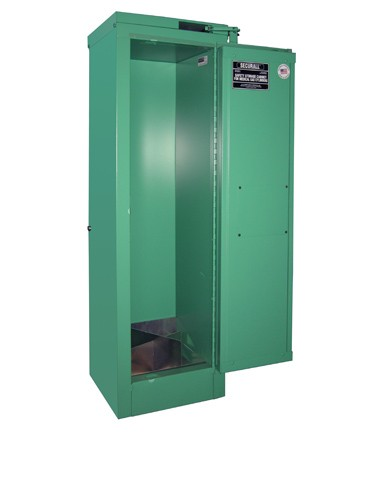 MG304FL - MedGas Oxygen Gas Cylinder Full Fire Lined Storage Cabinet - Stores 2-4 D, E Cylinders
