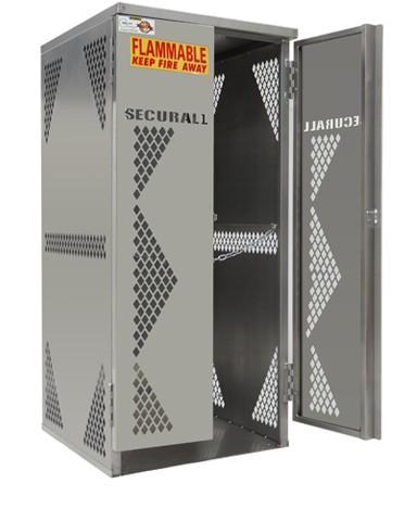 OG10 - LP/Oxygen Storage Cabinet - 5-10 Cyl. Vertical Standard Door